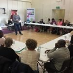 Trainer introducing course to candidates