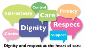 Dignity and respect at the heart of care