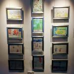Display of drawings at Amersham Musuem