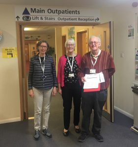 Ron, Janice Campbell and Liz Baker at Amersham