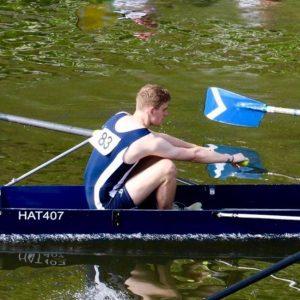 Ben rowing