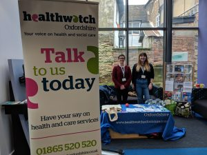 Emma from Healthwatch Bucks and Jeanne from Healthwatch Oxfordshire