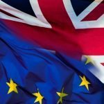 EU and UK flag merged